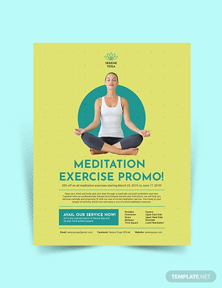 Yoga Meditation Flyer Template