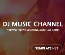 Free DJ YouTube Channel Template