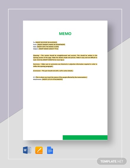 Sample Memo Template