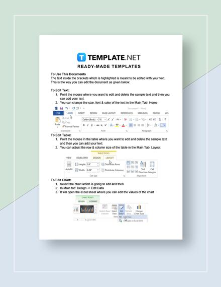 Checklist Sample Instructions