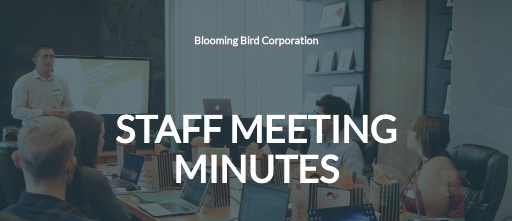 Sample Staff Meeting Minutes Template.jpe