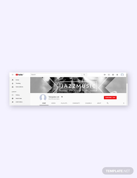 Free Music YouTube Channel Template