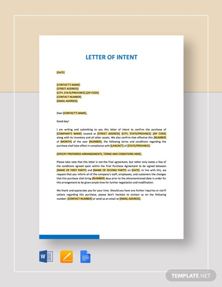 sample letter of intent to continue service free sample letter of intent to continue teaching template 27538 | Letter of Intent