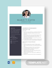 Apprentice Cook Resume Template