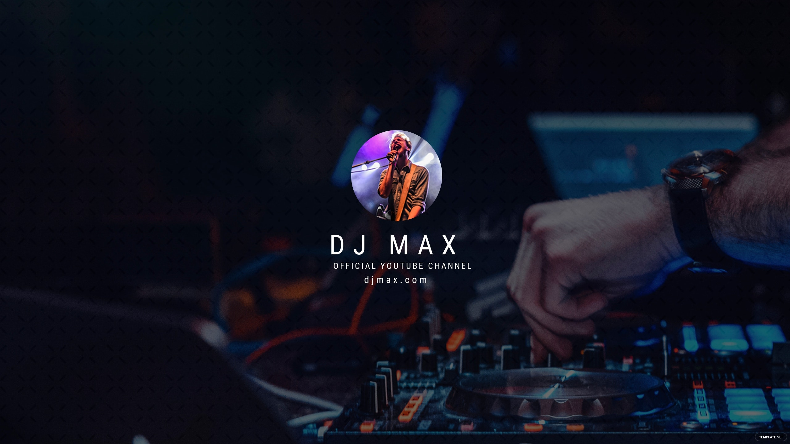 Free YouTube Channel Art for DJ Template.jpe