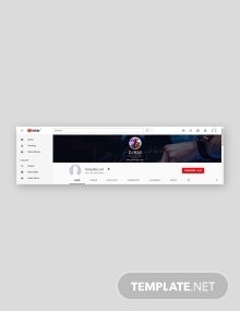 Free YouTube Channel Art for DJ Template
