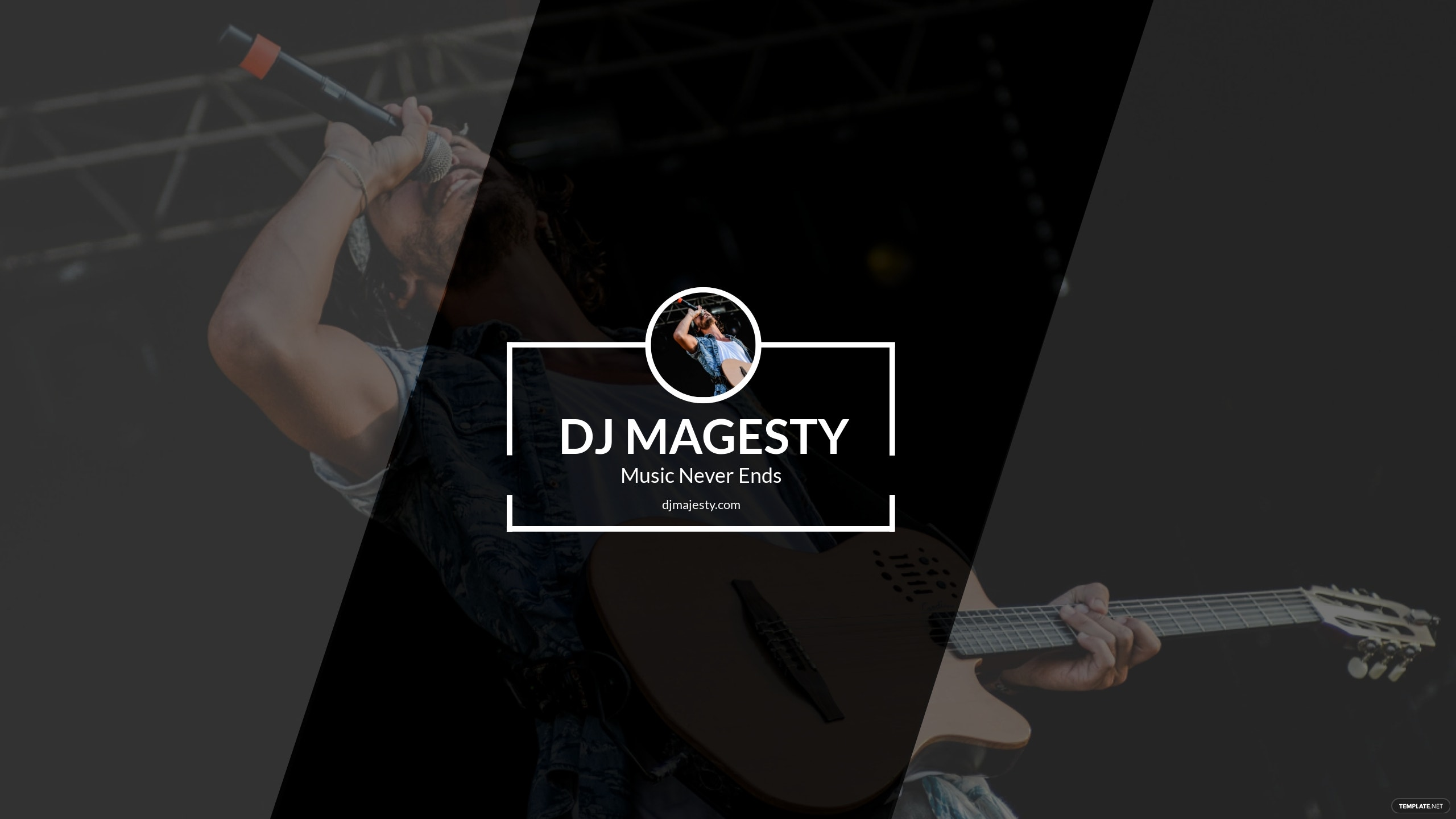 Free DJ YouTube Channel Art Template