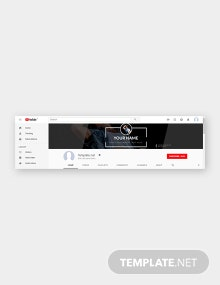Free DJ YouTube Channel Art Template