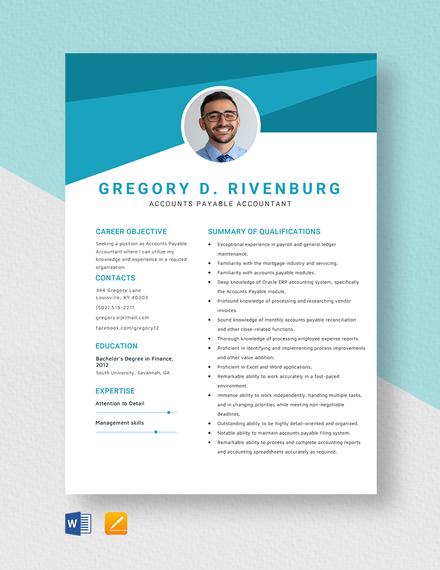 Accounts Payable Accountant Resume Template
