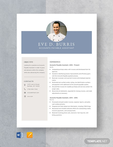 Accounts Payable Assistant Resume Template