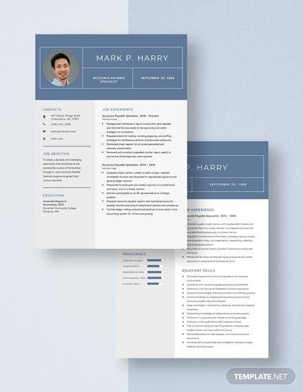 Accounts Payable Specialist Resume Template