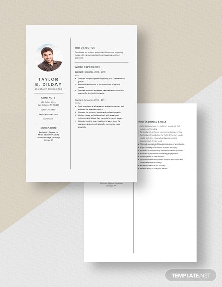 Assistant Conductor Resume Download