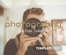 Free YouTube Channel for Photography Template