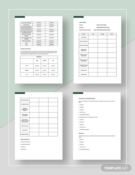 Sample Simple Internal Audit Report