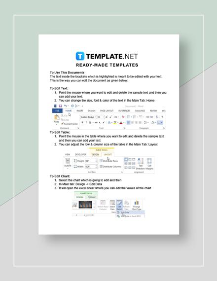Simple Internal Audit Report Instructions