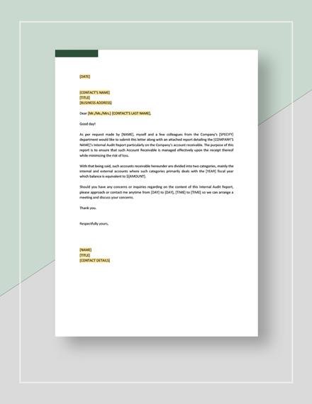 Simple Internal Audit Report Template
