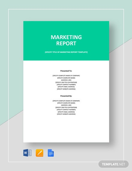 Marketing Report Template