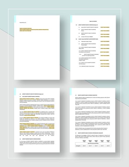 Sample Audit Report Download