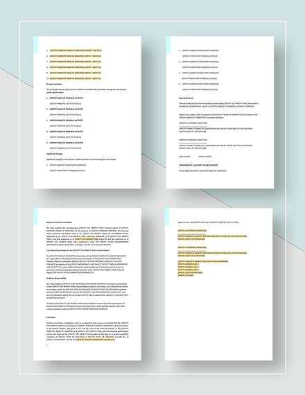 Sample Audit Report Format
