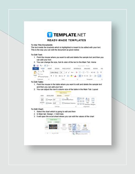 Sample Audit Report Instructions