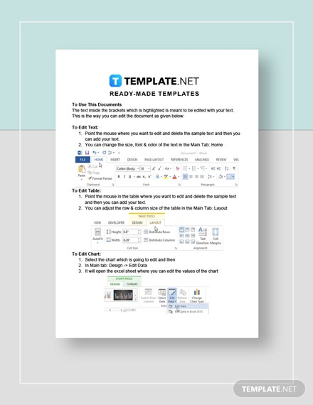 Sample Marketing Report Instructions