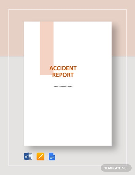 sample accident report