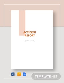 Sample Accident Report Template