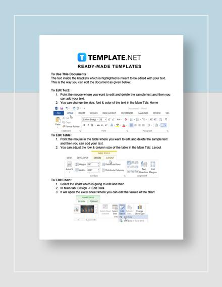 Restaurant Blank Invoice Instructions