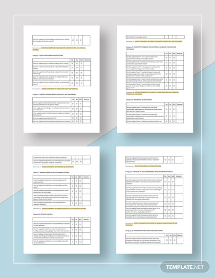 Vendor and Supplier Checklist Download