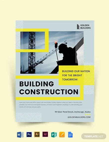 Building Construction Flyer Template