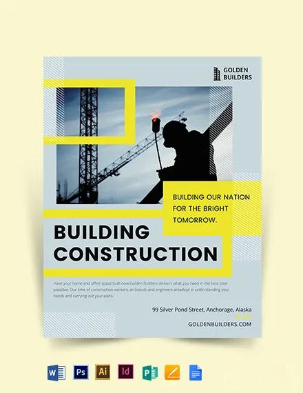 Building Construction Flyer Template