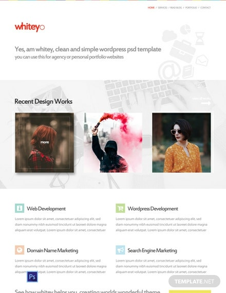 Free Web Design Company PSD Website Template
