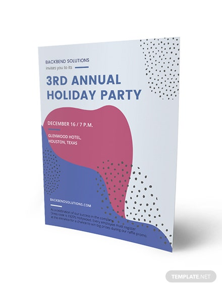 Company Holiday Party Flyer Download