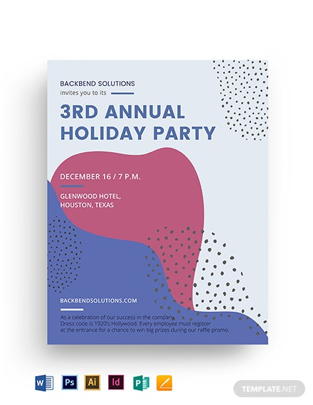 company holiday party flyer template 2