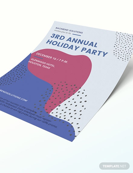 Sample Company Holiday Party Flyer