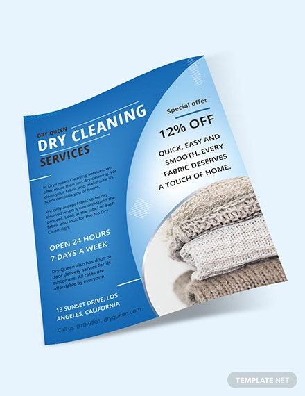 Sample Dry Cleaning Flyer