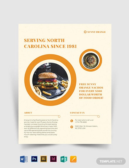 fast food flyer template 1