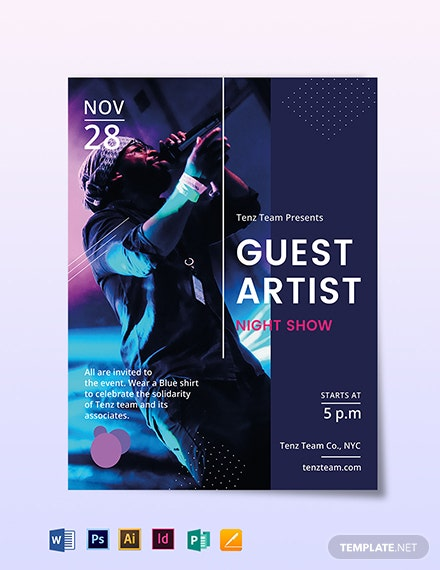 guest artist flyer template 1