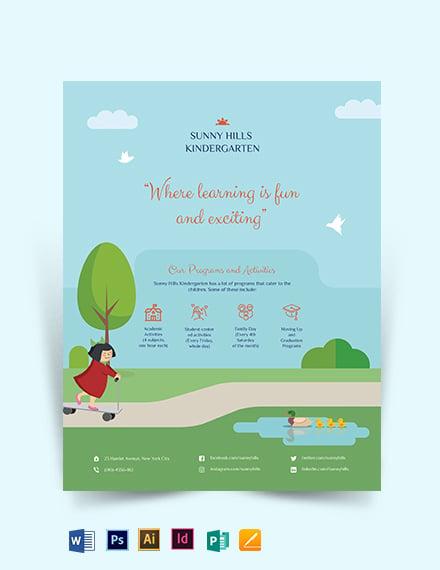 free kindergarten flyer template