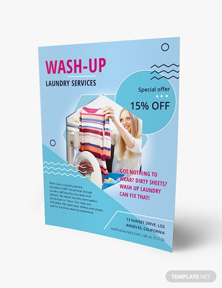Laundry Service Flyer Download