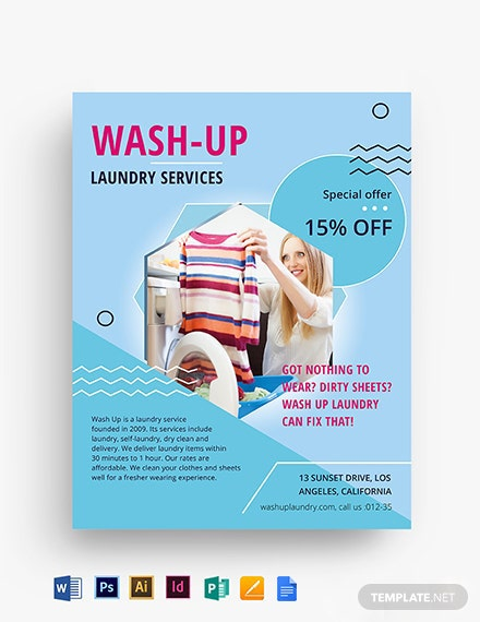 Laundry Service Flyer Template