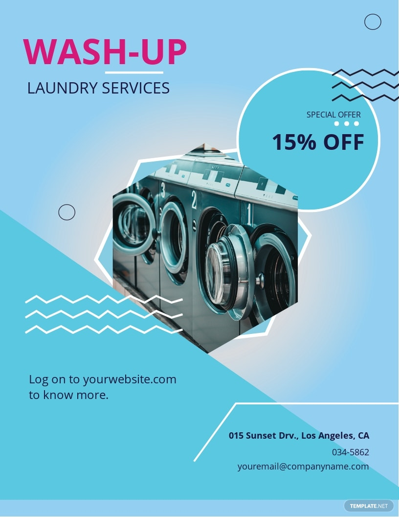 Laundry Service Flyer Template.jpe