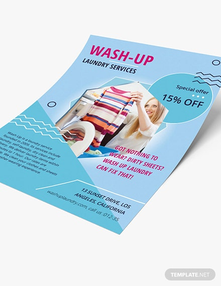 Sample Laundry Service Flyer
