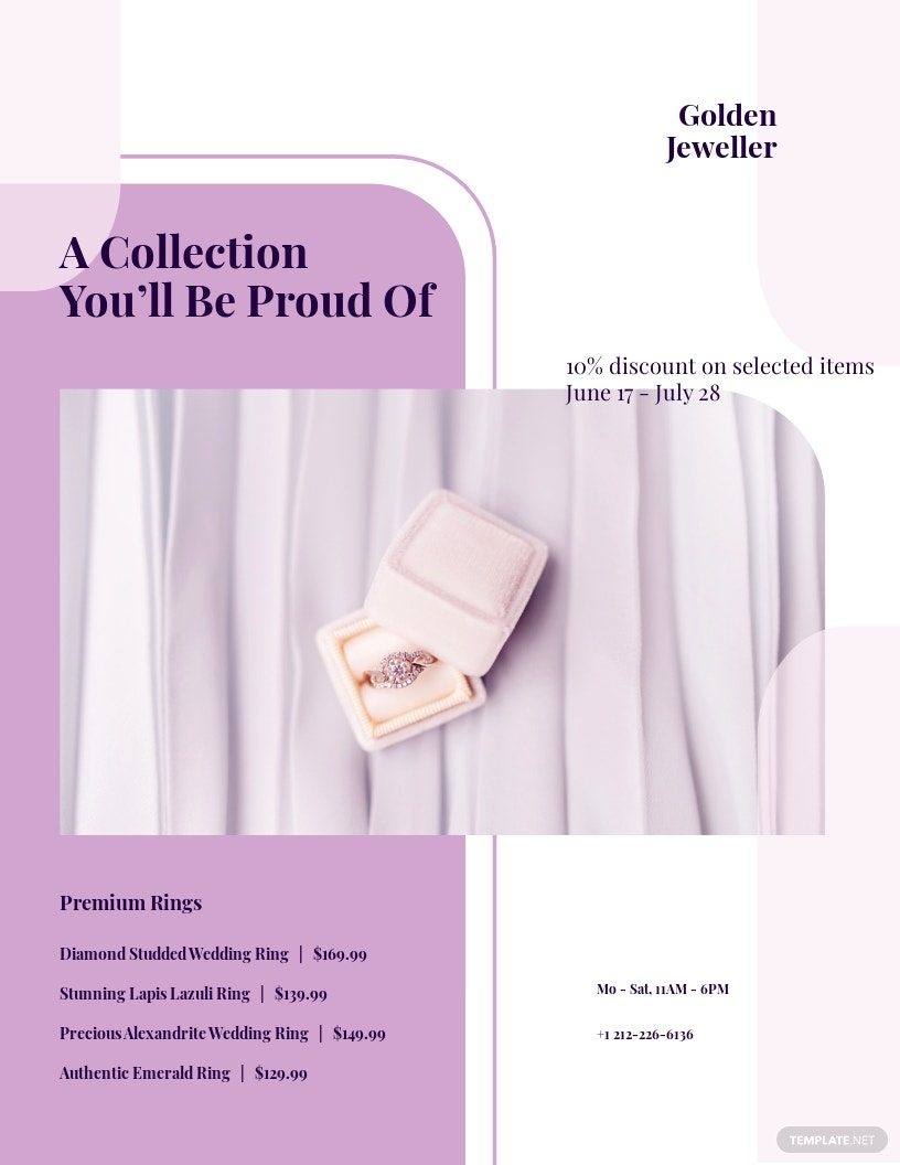 Jewelry Promotion Flyer Template