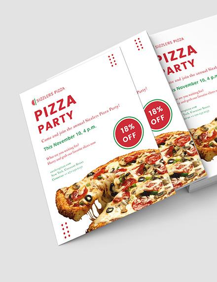 Elegant Pizza Party Flyer Download