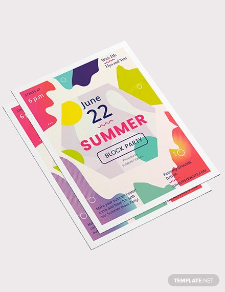 Sample Summer Block Party Flyer