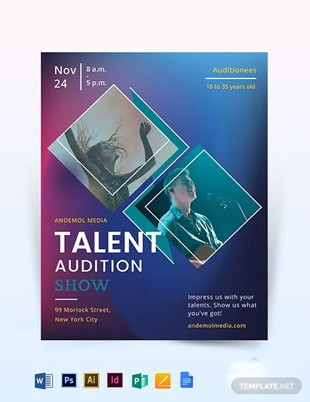 Talent Audition Show Flyer Template