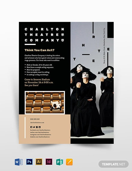 Theatre Flyer Template