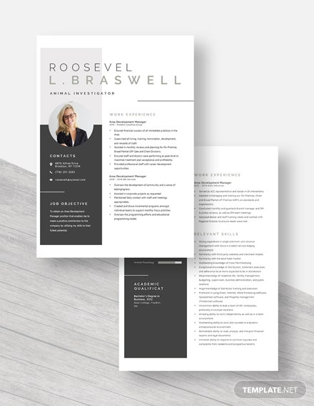 Area Development Manager Resume Download