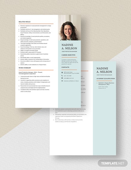 Asset Protection Manager Resume Download